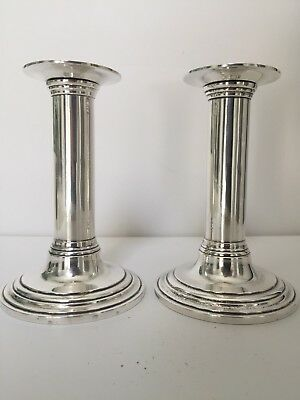 Early 20th Century Tiffany Makers Sterling Candlesticks (not weighted) Perfect!