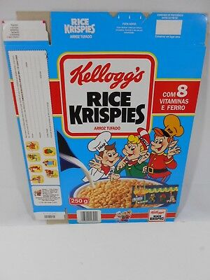 VTG 1992 Cereal Box KELLOGG'S Rice Krispies PORTUGAL 250g Collectible NOS #1