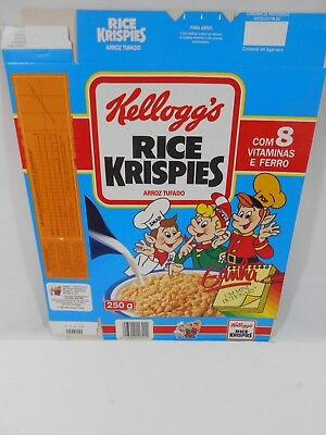 VTG 1992 Cereal Box KELLOGG'S Rice Krispies PORTUGAL 250g Collectible NOS #2
