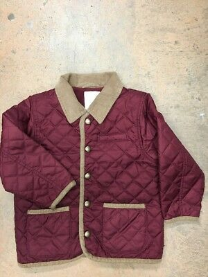 0ef3ba8c5 GYMBOREE TODDLER BOYS Red Brown Quilted Jacket