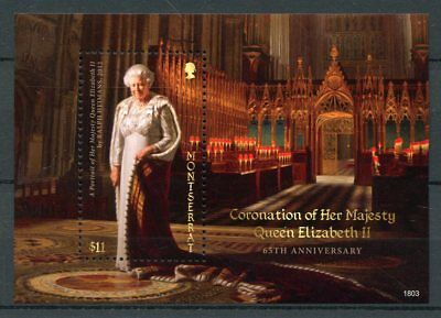 Montserrat 2018 MNH Queen Elizabeth II Coronation 65th Ann 1v S/S Royalty Stamps