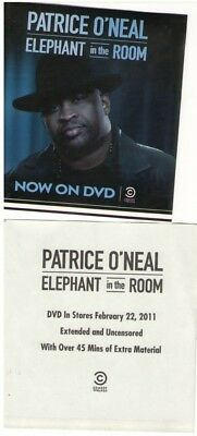 PATRICE O'NEAL 2011 elephant in the room promotional sticker MINT NEW old stock