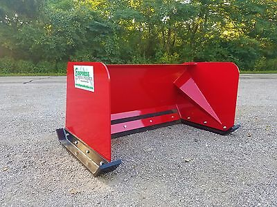 4' RED snow pusher box Toro, Dingo, Thomas, Ditch Witch, Vermeer - Local Pick up