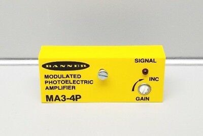 New Banner Ma3-4P Modulated Photoelectric Amplifier 25218