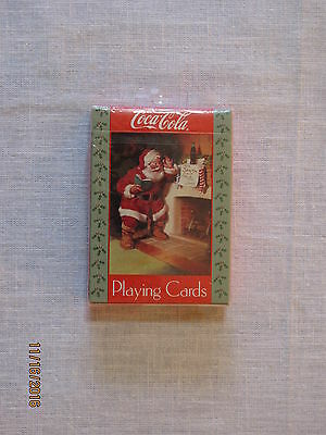 New 1992 Coca-Cola Playing Cards, Santa Note on Chimney