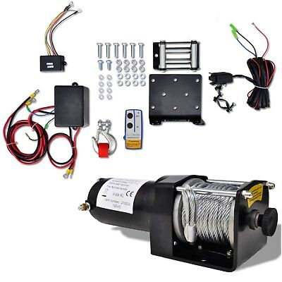 12 V Electric Winch 1360 KG with Wireless Remote Control for Vehicle Recovery
