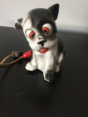 Figure Chien Ancienne Lampe A Renover