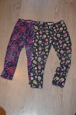 Girls Clothing - Age 6 -  Two Pairs Of Leggings Including My Little Pony - M128