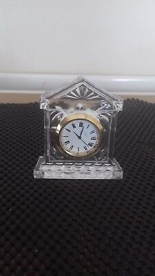 Small Glass Battery  Clock In Good Working Order.