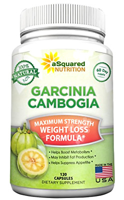100% Pure Garcinia Cambogia Extract - 120 Capsules, Ultra High Strength HCA, Na