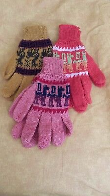 100% Alpaca  Wool Gloves