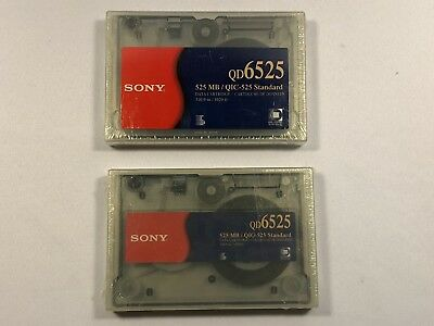 2x Sony QD6525 525 MB QIC-525 Standard Data Cartridge 310.9 m 1020 ft New