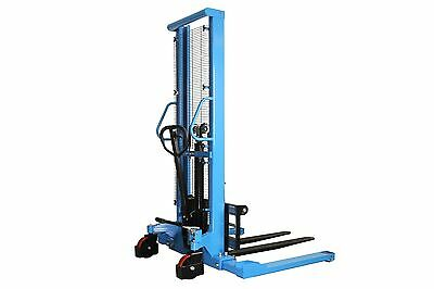 "Eoslift Pallet Stacker Manual Straddle Stacker 2200 lb. Cap. 63"" Max Fork Height"