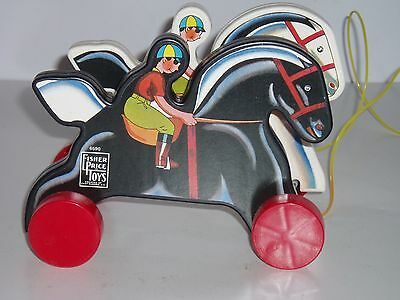 Fisher-Price Prancing Horses Limited Edition Pull Toy! - #6590 (NOS with COA)
