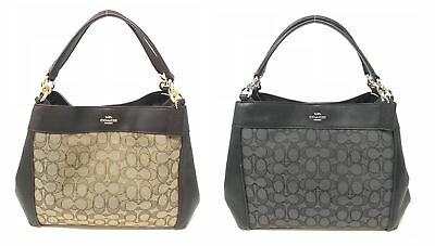 8aca30d4ab29 Coach Small Lexy Shoulder Bag Signature Jacquard   Leather F29548  325
