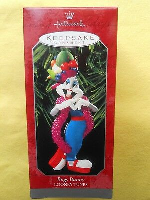 HALLMARK 1998 Looney Tunes BUGS BUNNY Latin Dancer CHRISTMAS ORNAMENT-NIB+pt