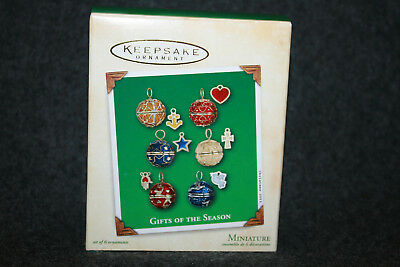Hallmark Keepsake Ornament 2002 Gifts of the Season 6 miniature ornaments