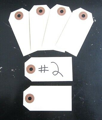 "50 Avery Dennison Manilla  #2 Blank Shipping Tags 3 1/4"" By 1 5/8"" Scrapbook"