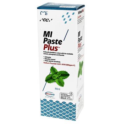 1 x GC MIPASTE Mint Tooth Cream  WITH RECALDENT 10 TUBES OF40GM