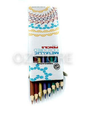 Tjindgarmi Metallic Coloured Pencils Drawing Draw Art Craft Sketch Colour Pencil