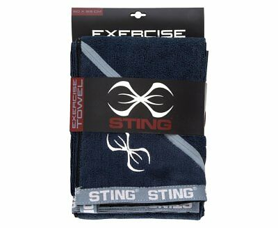 Sting Microfibre Exercise Towel Gym fitness Sport Sweat #1 USA Key Pouch Black