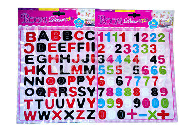 Children Kids Room Decor Stickers Letters & Numbers Foam Alphabet Set