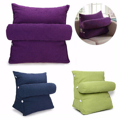 Adjustable Back Wedge Cushion Sofa Bed Office Chair Rest Neck Support Pillow OZ