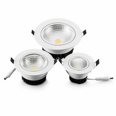 Dimmable 7W/9W/12W/15W/18W LED COB ceiling light Recessed Spot lamp downlight
