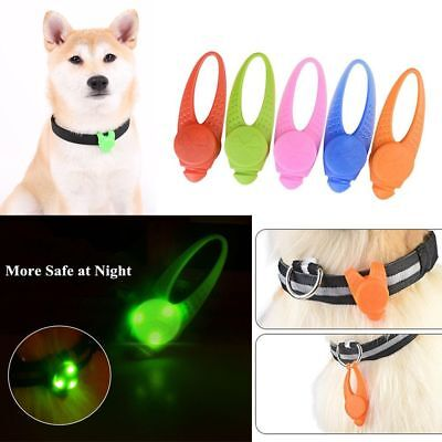 Silicone LED Cat Tags Pet Luminous Pendant Dog Necklace Glowing Collar Light