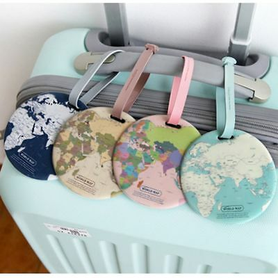 Holder Travel Accessories Boarding ID Bag Tags World Map Suitcase Label