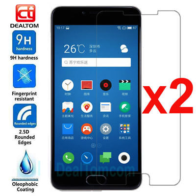 2PK 9H Tempered Glass Film Screen Protector Cover For Meizu MX4 MX5 MX6 7 M5 M6