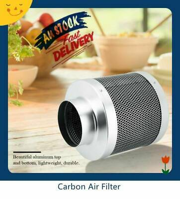 "4"" 100MM Inline Exhaust Fan Carbon Filter Hydroponics Grow Tent Ventilation"