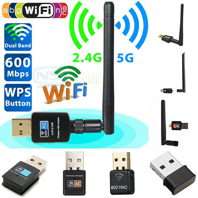 300/600/1200 Mbps 802.11AC 2.4G 5GHz USB Dual Band Wireless WIFI Network Adapter