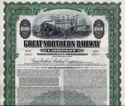 Great Northern Railway Company 1946, 2 3/4% Gold Bond Ser.P due 1982 (1.000 $)