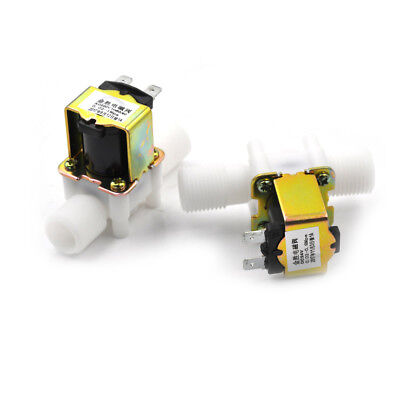 """1/2"""" Plastic Electric Solenoid Valve Magnetic Water Air 220V Normally Closed  EI"""