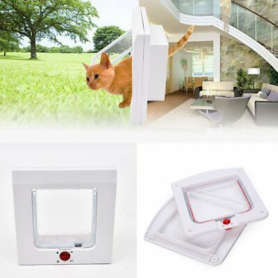 Dog Cat Flap Doors with 4 Way Lock for Pets Entry & Exit New Design