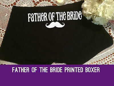 Father of the Bride Moustache Boxer Trunk Wedding day gift