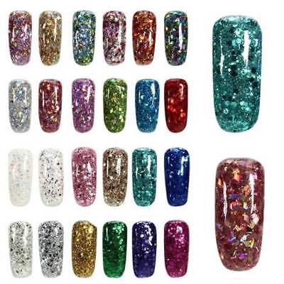 Glitter Pots - Mixed Fine Chunky Glitter Nail Art Fake Natural Gel Acrylic Nails