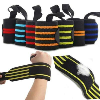 2x Weight Lifting Wrist Wraps Bandage Hand Support GYM Straps Sports Grip Brace