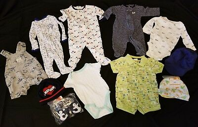 Large Lot of Baby Boy 0-3 Months Clothes, Shoes & hats