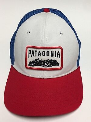 """7259ed3508e Patagonia """"Climb a Mountain"""" Trucker Hat Mesh Snapback Embroidered Patch  Hiking"""