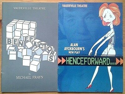 Selection of individual Vaudeville Theatre programmes 1980s West End programme