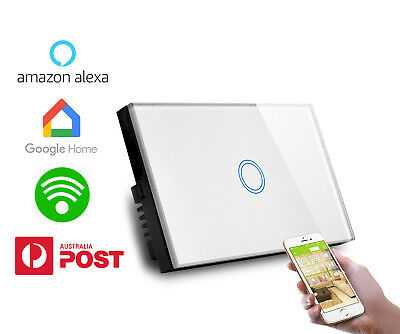 AU Approved SMART HOME WIFI Touch wall light glass  Switch Google home Alexa