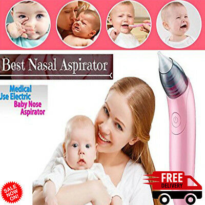 Baby Nasal Aspirator Electric Nose Snot Sucker Nostril Cleaner Power Setting