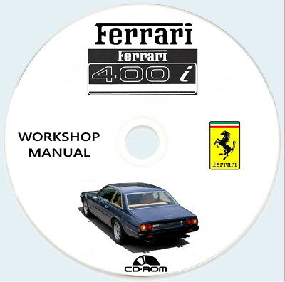 Workshop Manual FERRARI 400i MANUALE OFFICINA RIPARAZIONE.