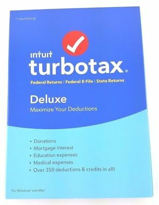 2016 TurboTax Deluxe Federal & State Turbo Tax New CD in sealed retail Pkg