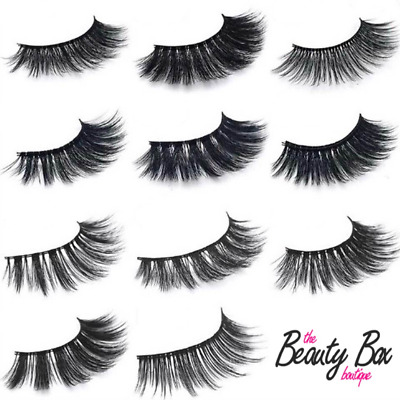 Long Natural Thick Handmade False Eyelashes Eye Lashes Fake 3D Mink 1-10 Pairs