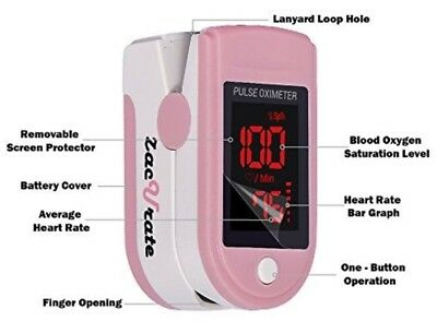 Pro Series 500DL Fingertip Pulse Oximeter Blood Oxygen Saturation Pink