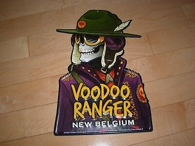 NEW BELGIUM Voodoo Ranger label art METAL TACKER SIGN craft beer brewery brewing