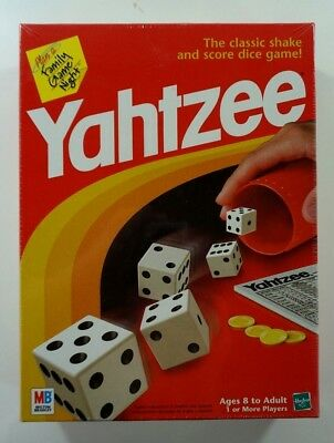 Yahtzee Classic Board Game includes Shaker 5 Dice Score Pad and Game Guide NEW